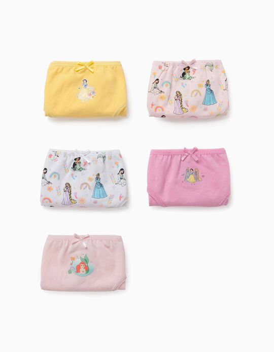5 Cuecas para Menina 'Disney Princess', Multicolor
