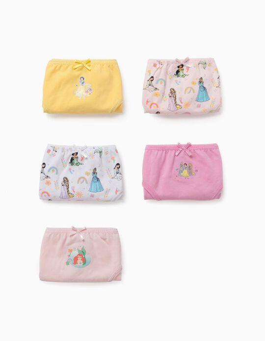 5 Briefs for Girls, 'Disney Princess', Multicoloured