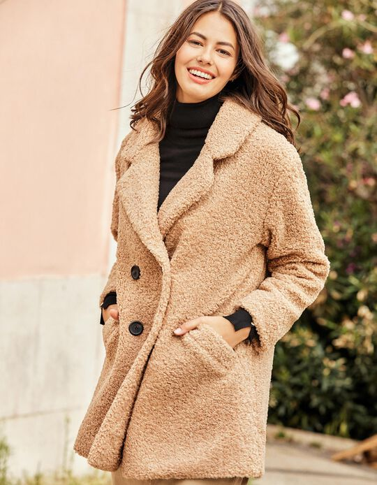 Fleece wrap coat