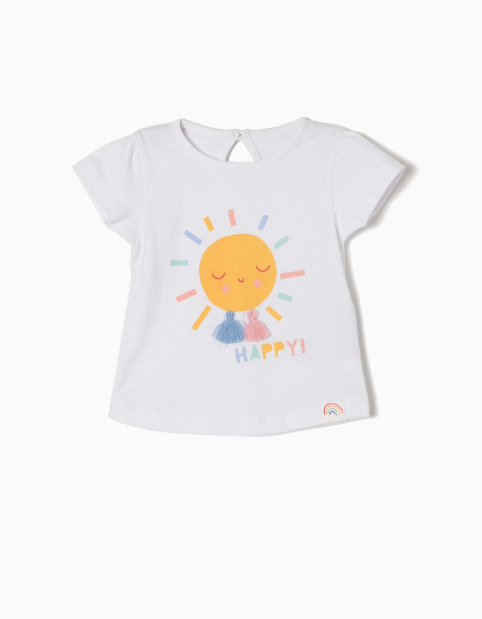 T-shirt Manga Curta Happy