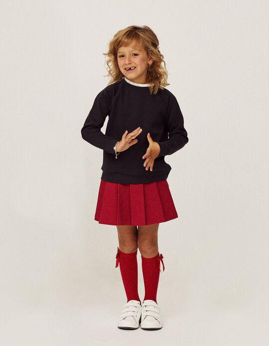 Pleated Skirt for Girls, Red