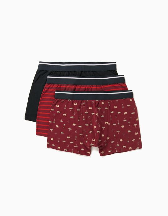 3 Assorted Boxer Shorts for Men