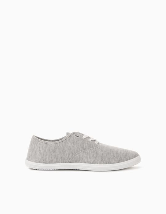 Canvas Trainers for Men, Grey