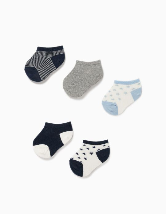 5 Pairs of Trainer Socks for Baby Boys