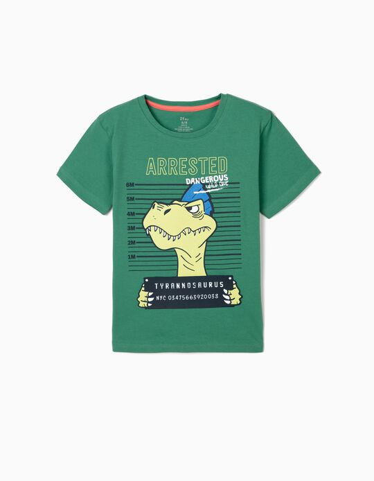 T-shirt for Boys 'Tyrannosaurus', Green