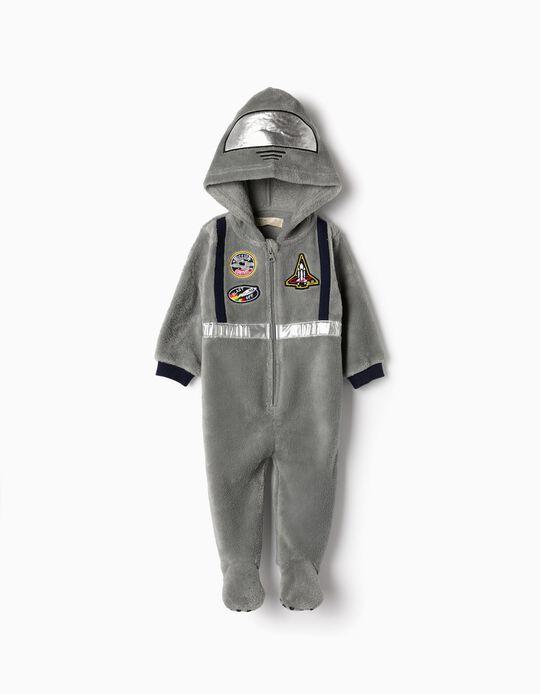 Pijama-Macacão para Bebé Menino 'Astronaut', Cinza