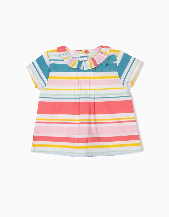 Striped Blouse for Baby Girls, Multicoloured