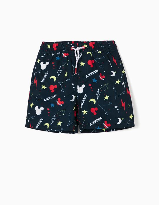 Swim Shorts for Boys, 'Mickey Mouse Space', Dark Blue