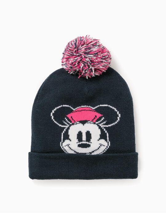 Knit Beanie for Girls 'Minnie', Dark Blue