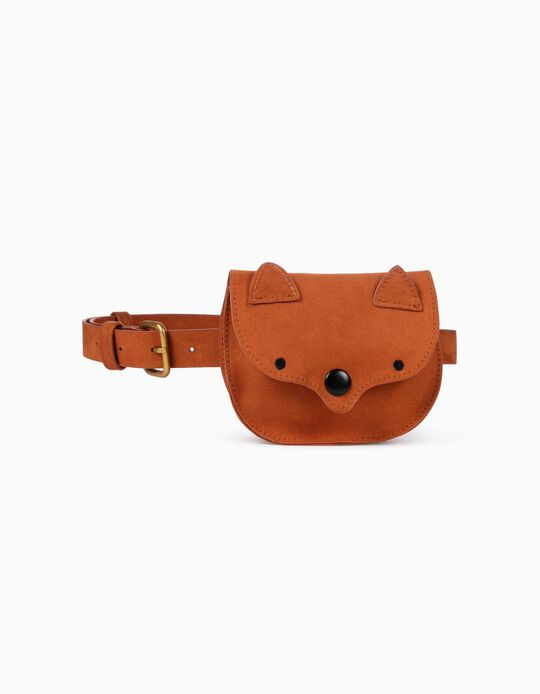 Belt with fox purse