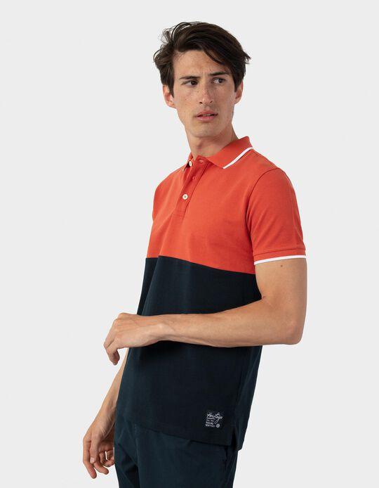 Two-Tone PiquéKnit Polo Shirt, Men
