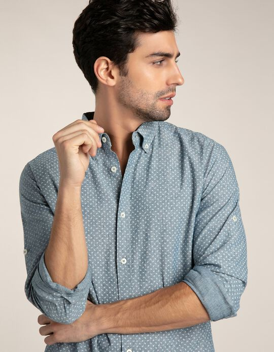 Regular Fit Shirt with Geometric Pattern