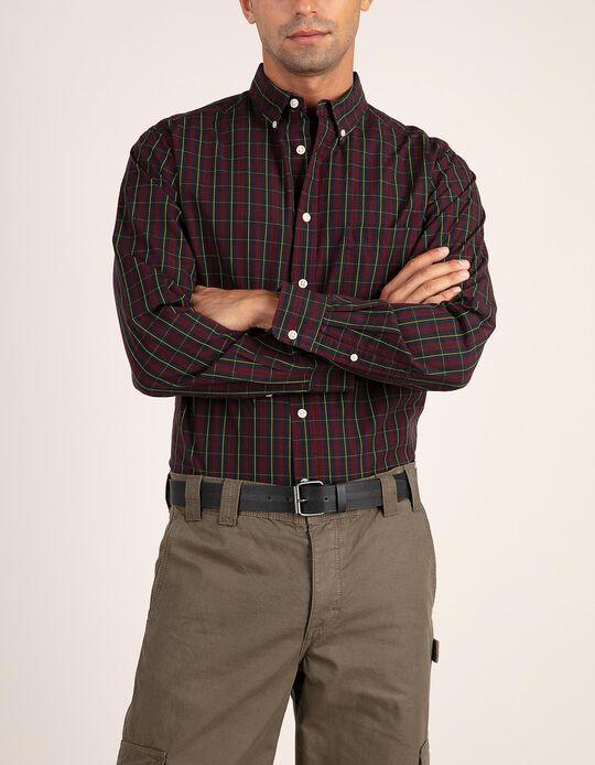 Camisa regular fit em tartan