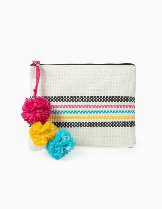 Straw toiletry bag