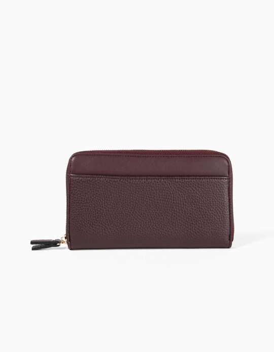 Pebbled-effect wallet