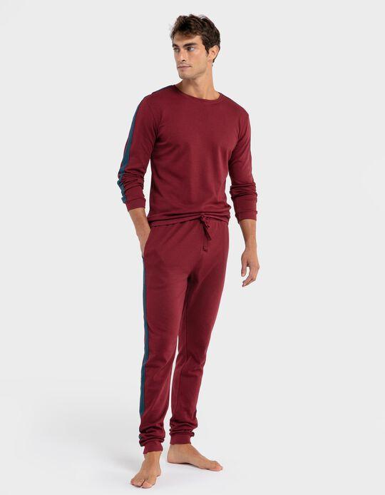 Pijama risca lateral