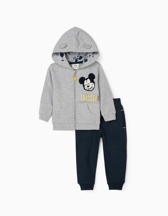 Fato de Treino para Bebé Menino 'Mickey Oh Boy!', Cinza/Azul Escuro