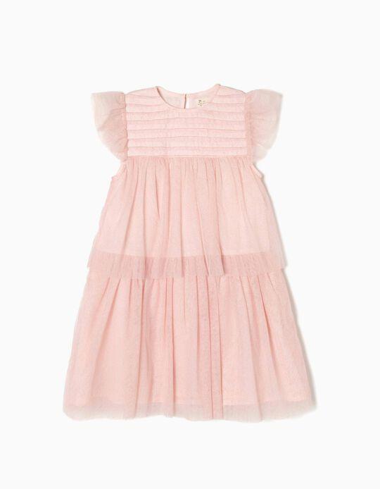 Vestido Tule Rosa Edição Especial