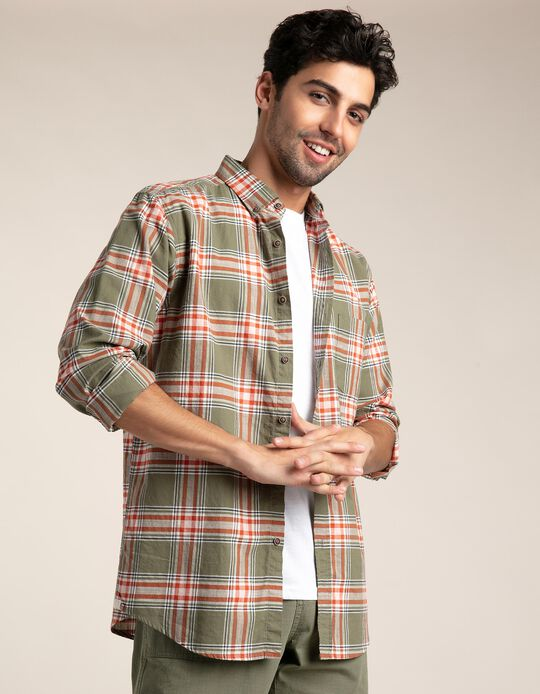 Camisa regular fit tartã