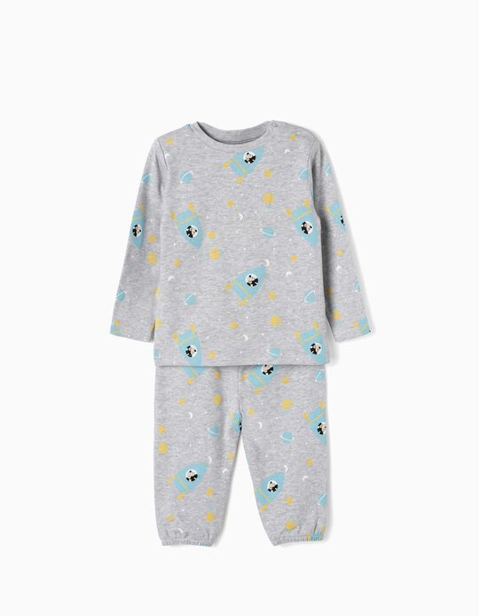 Pyjamas for Baby Boys 'Mickey in Space', Grey