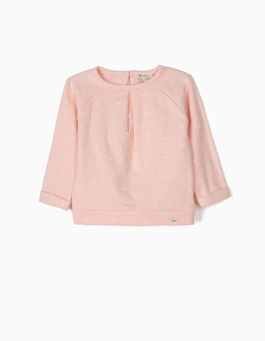 Sweatshirt para Recém-Nascida 'Lion', Rosa