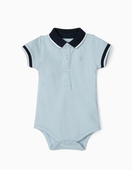 Polo Shirt Bodysuit for Baby Boys, Blue