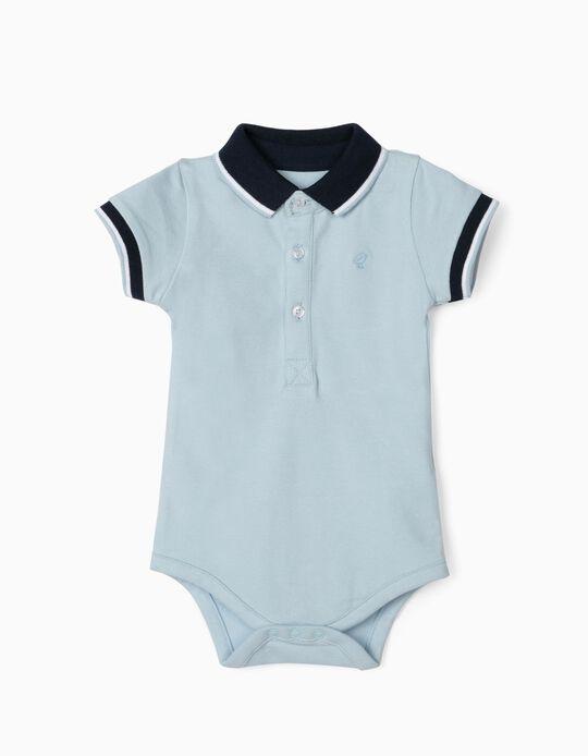 Body-Polo para Bebé Menino, Azul