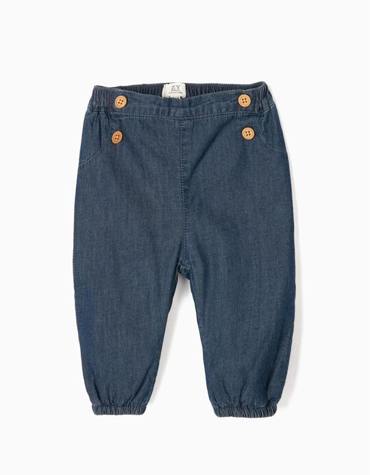 Shorts with Buttons for Newborn Boys 'Comfort Denim', Blue