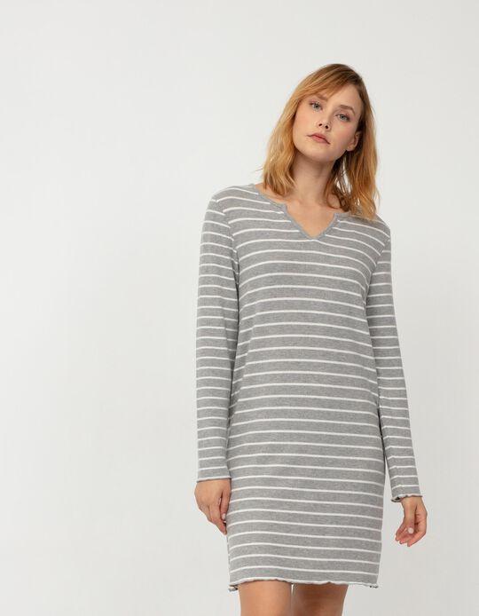 Soft Nightie, Women, Grey