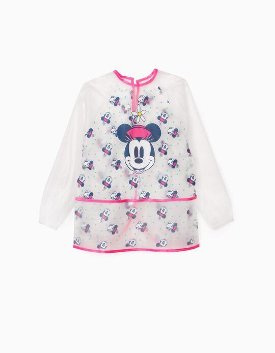 Waterproof Bib for Girls 'Minnie', Transparent/Pink
