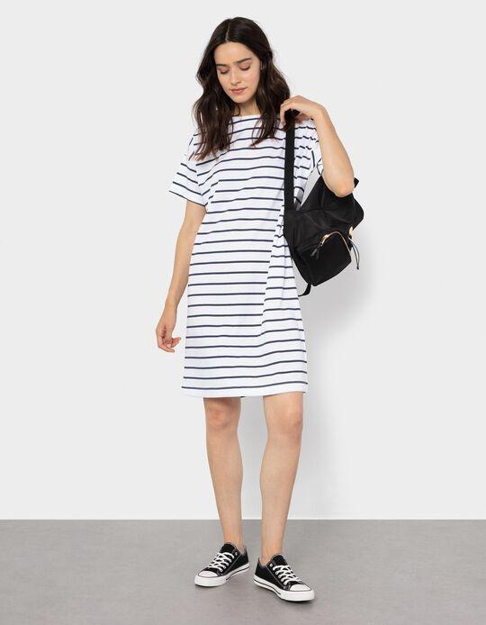 Knitted Dress for Women, Stripes