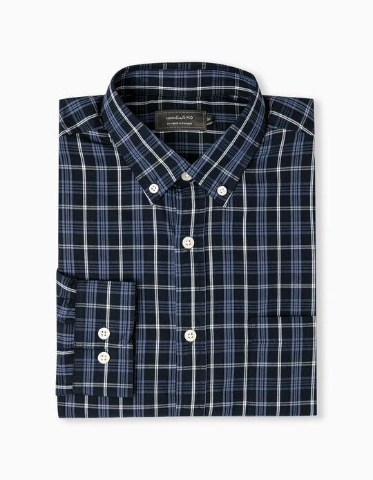Camisa aos Quadrados Homem