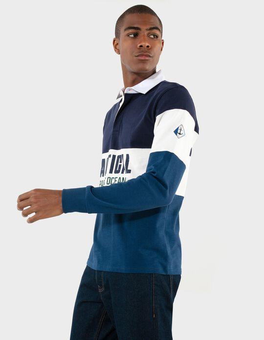 Long Sleeve Polo Shirt, Nautical