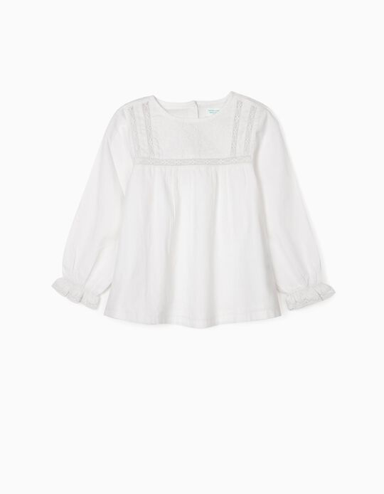 Blouse for Girls, 'B&S', White
