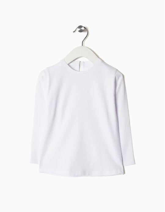 T-shirt Manga Comprida Básica Branca