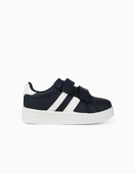 Trainers for Baby 'ZY', Dark Blue/White