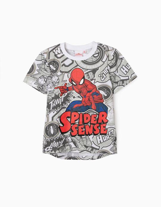 T-Shirt for Boys, 'Spider Sense - Spider-Man', Light Grey