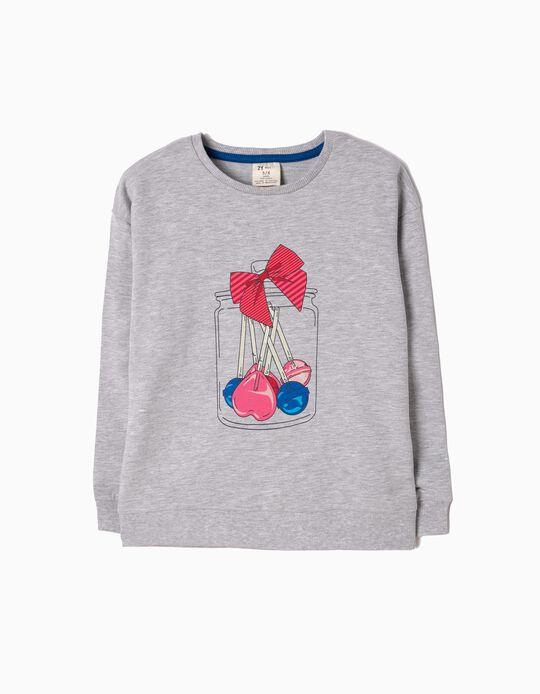 Sweatshirt Sweets Cinzenta