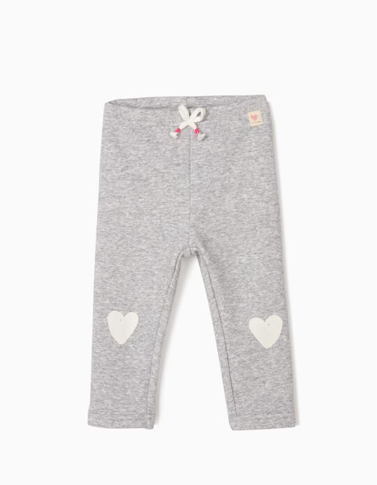 Trousers for Baby Girls 'Hearts', Grey