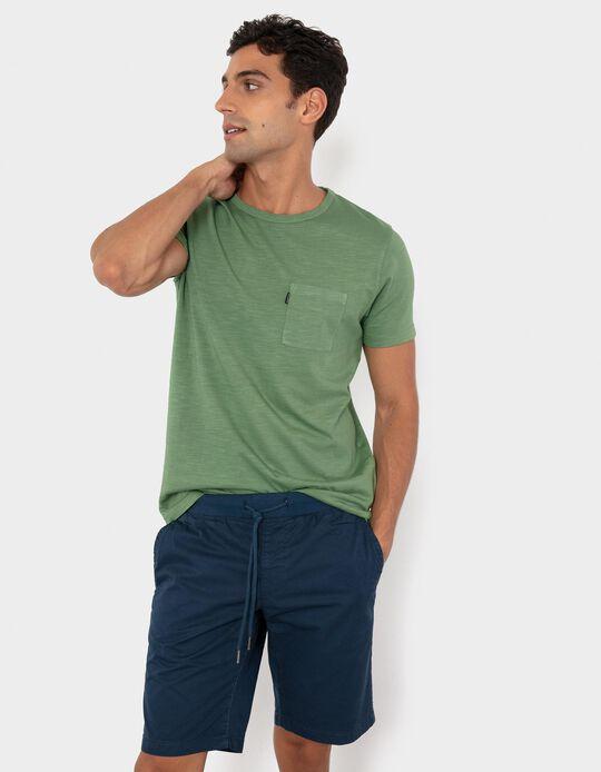 T-shirt com Bolso, Homem, Verde