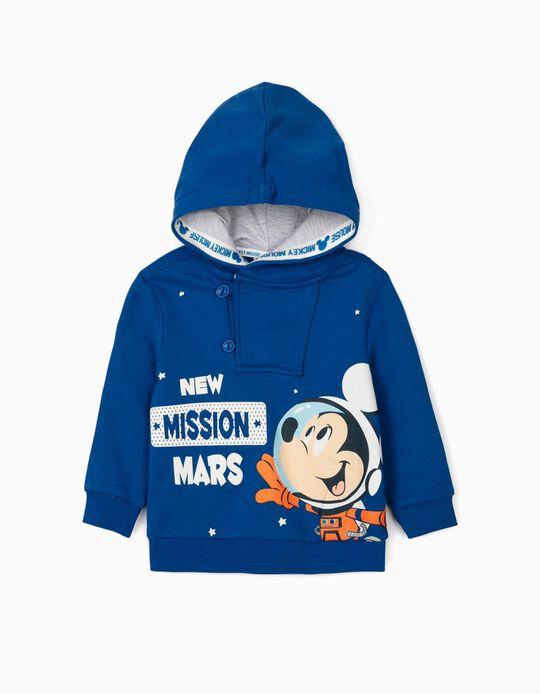 Sweatshirt com Capuz para Bebé Menino 'Mickey Mission', Azul