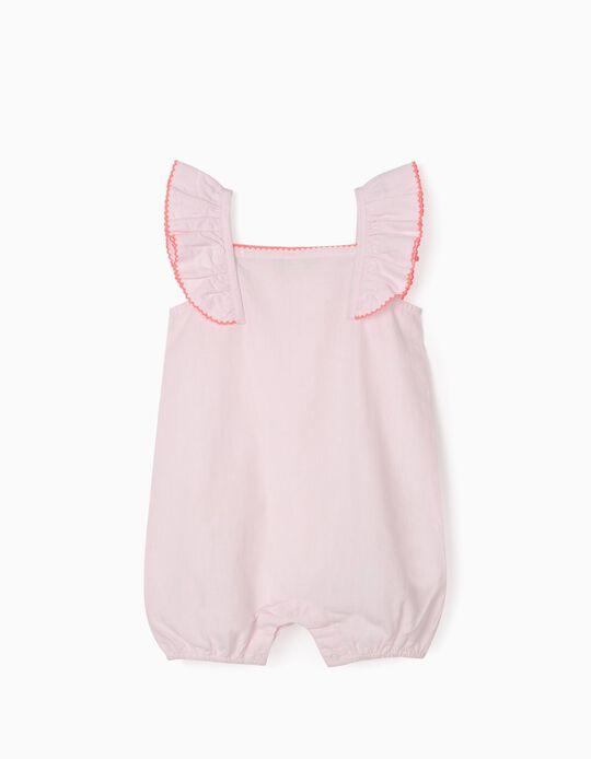 Plumeti Sleepsuit for Baby Girls, Pink