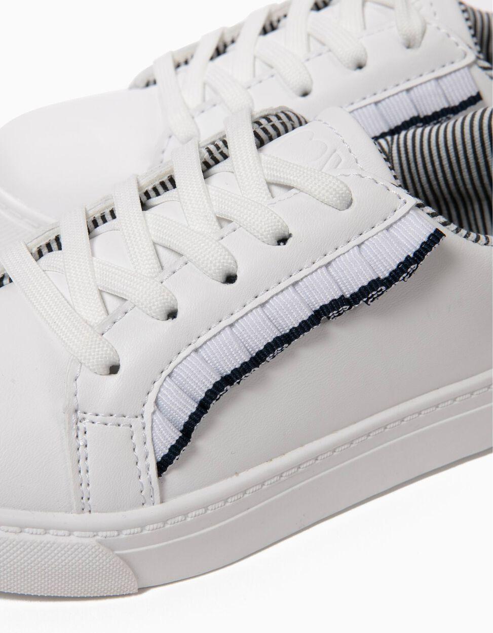 Sapatilhas Brancas com Folhos