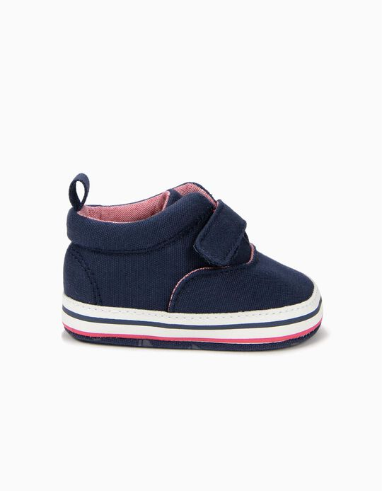 Sneakers for Newborn Boys, Dark Blue
