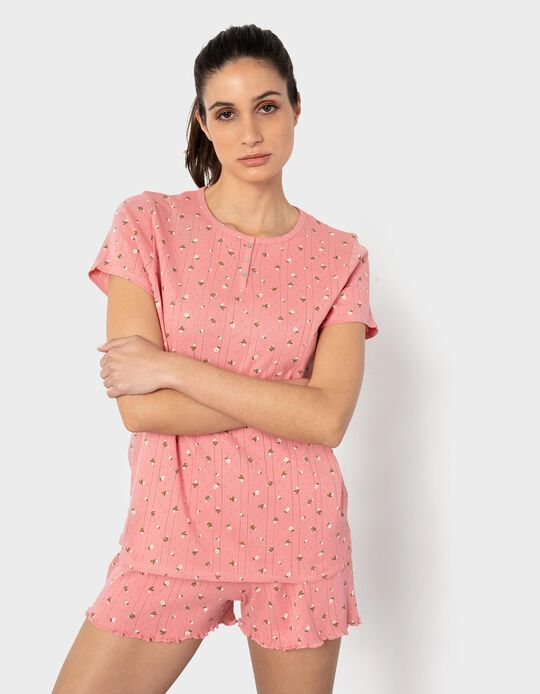 Floral Pyjamas, Organic Cotton, Women