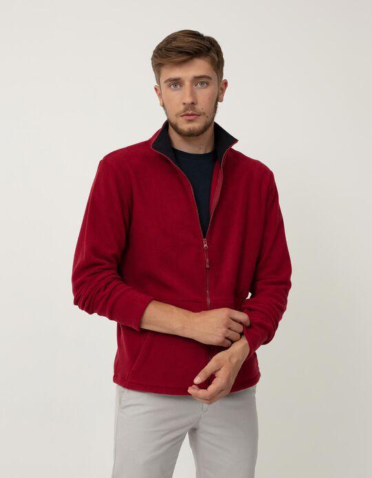 Polar Fleece Jacket, Men, Red
