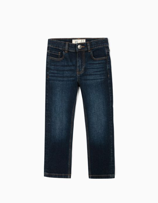 Denim Jeans for Boys 'Regular Fit', Dark Blue