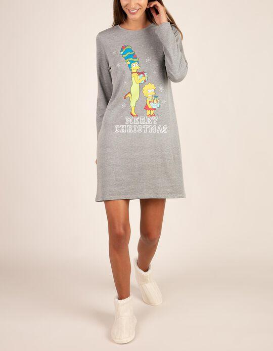 Camisa de noite natalícia Simpsons.