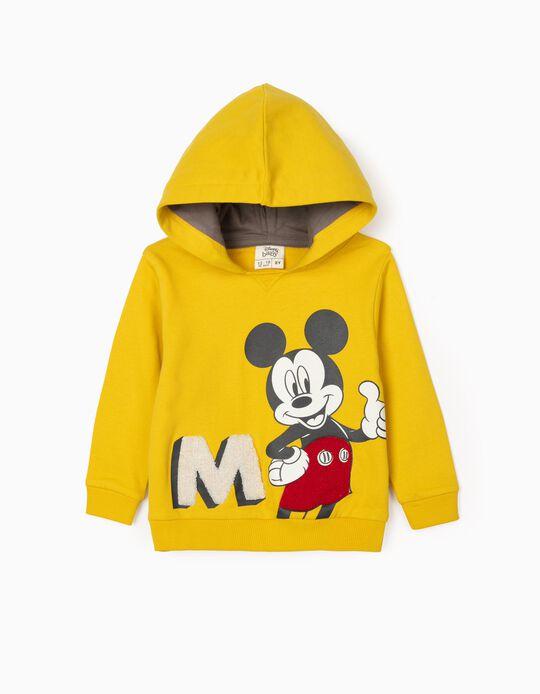 Sweatshirt com Capuz para Bebé Menino 'Mickey', Amarelo