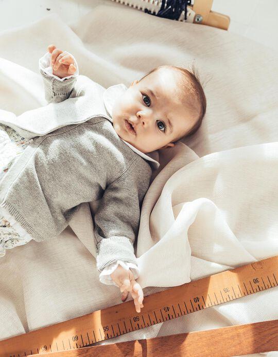 Casaco de Malha para Recém-Nascida, Cinza